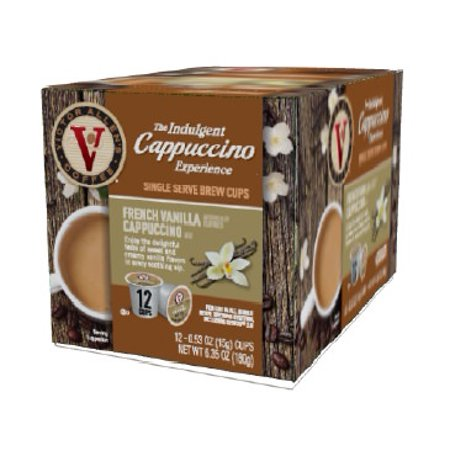 Victor Allen's Indulgent Cappuccino Experience French Vanilla K-Cup Coffee  Pods, 12 Count