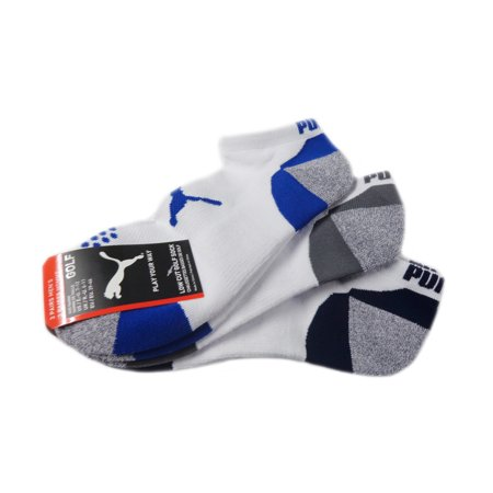 NEW Puma Pounce Multi Pack Low Cut 3 Pairs of Golf Socks Mens 7-12