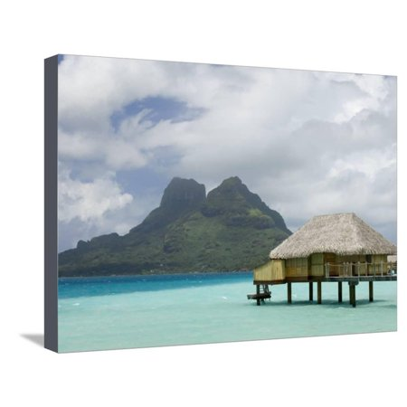 Pearl Beach Resort, Bora-Bora, Leeward Group, Society Islands, French Polynesia Stretched Canvas Print Wall Art By Sergio Pitamitz (Pitamitz Sergio Pearl Beach Resort)