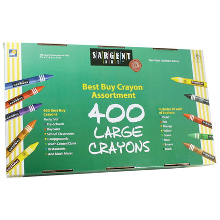 Sargent Art® Best-Buy Crayon Assorted, Large Size, 400