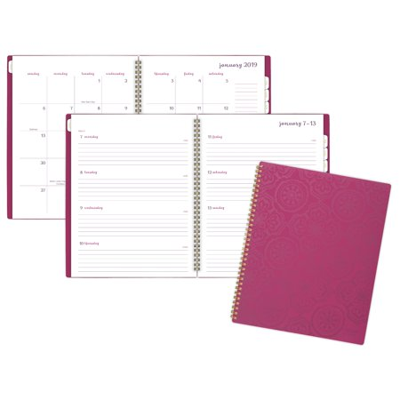 Mead Caprice Weekly-Monthly Tabbed Poly Planner -