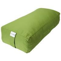 Sol Living Organic Cotton and Meditation Cushion Meditation Cushion Full Back Support and Core Stability Durable Meditation Pillow - Green