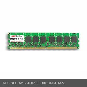DMS Compatible/Replacement for NEC AMS-4602-00-00 Express5800 TM800 256MB DMS Certified Memory DDR2-533 (PC2-4200) 32x72 CL4 1.8v 240 Pin ECC DIMM Single Rank - DMS 533 Single Rank Single
