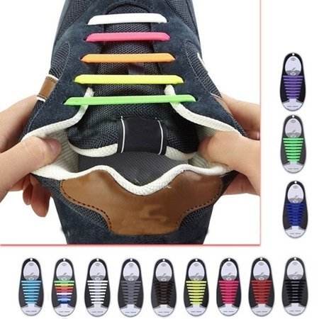 Creative Silicone Shoe Lace No Wash Lazy Shoelace Elastic Casual Shoe Lace - image 1 of 6