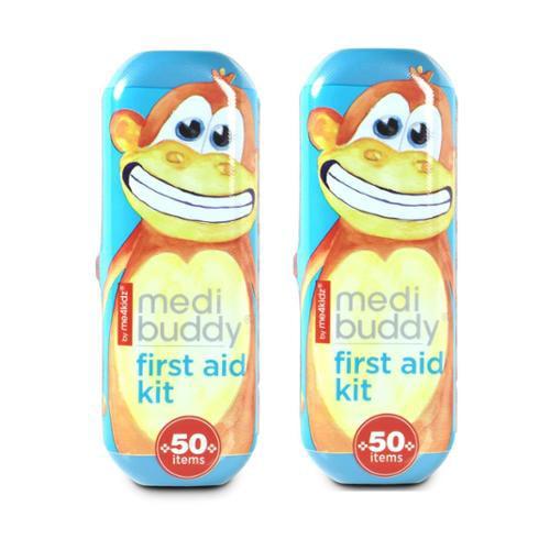 MediBuddy - First Aid Kit To Go by me4kidz, Set of 2 (Monkey)