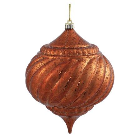 """Vickerman 375587 - 6"""" Copper Shiny Mercury Onion Ball Christmas Tree Ornament (M155728)"""
