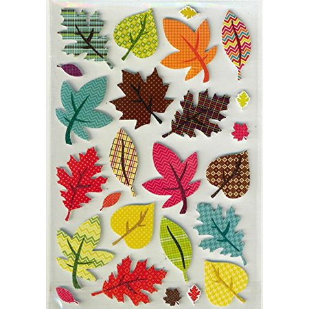 Nantucket Harvest - Nantucket Home Fall Harvest Stickers (Foam Fall Leaves)