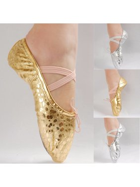 Kids Girls' Basic Casual Flat Shoes Ballet Dance Shoes Gold Silver Shoes