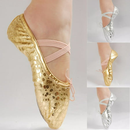 Kids Girls' Basic Casual Flat Shoes Ballet Dance Shoes Gold Silver (Best Dance Shoes For Carpet)