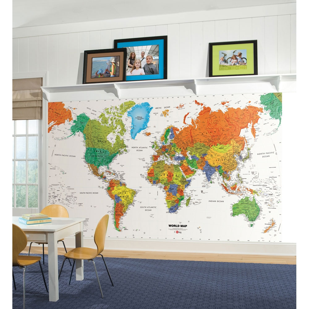 World map wall mural walmart gumiabroncs