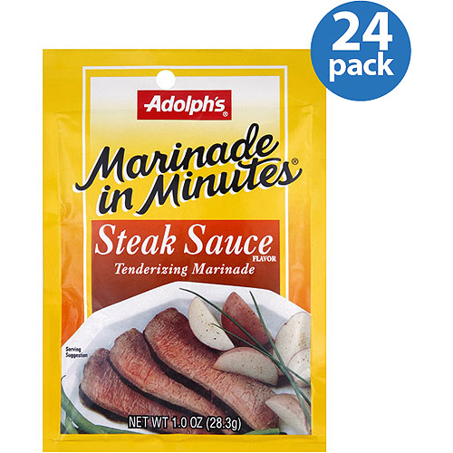 Adolph's Marinade in Minutes Steak Sauce Tenderizing Marinade, 1 oz, (Pack of 24)