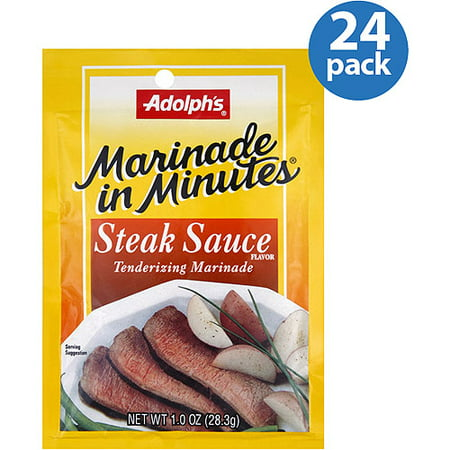 Adolph's Marinade in Minutes Steak Sauce Tenderizing Marinade, 1 oz, (Pack of