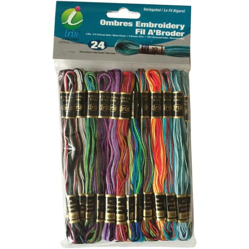 Embroidery Thread Pack, 8.75 yd, 24pk, Ombres