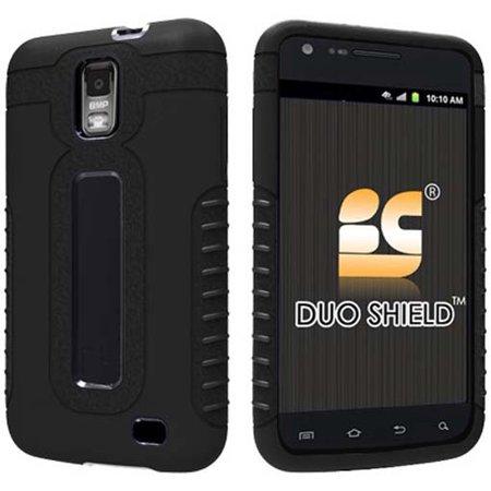 BLACK DUO-SHIELD SOFT SKIN HARD CASE FOR AT&T SAMSUNG SKYROCKET i727 GALAXY-S II ()