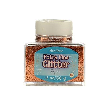 Extra Fine Glitter topaz, 2 oz., stackable jar (pack of 4) - Bag Of Glitter