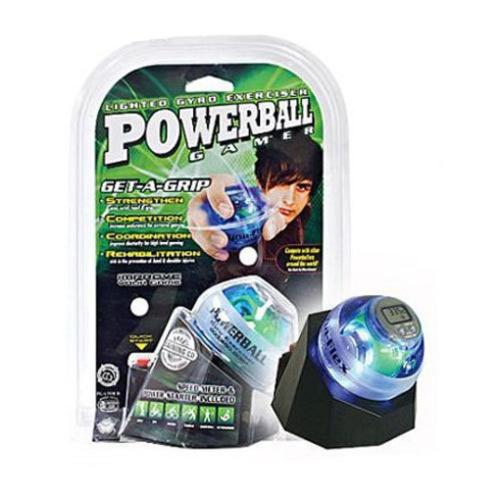 DFX Powerball Gamer Gyro Exerciser with docking station and speed meter combo