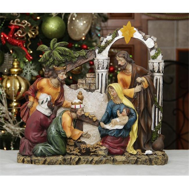 NorthLight 14. 5 inch Inspirational Religious Christmas Holy Family And Three Kings Nativity Scene