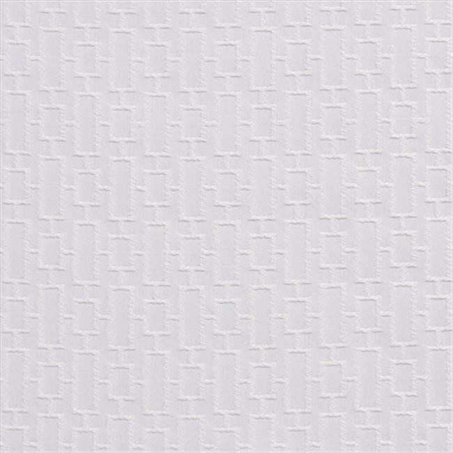 Designer Fabrics K0250A 54 in. Wide White Connected Rectangles Silk Satin Upholstery Fabric
