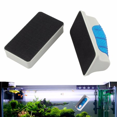 ESYNIC Floating Magnetic Brush Magnetic Double Surface Aquarium Fish Tank Glass Cleaner Floating Algae Brush Scraper Cleaner Large