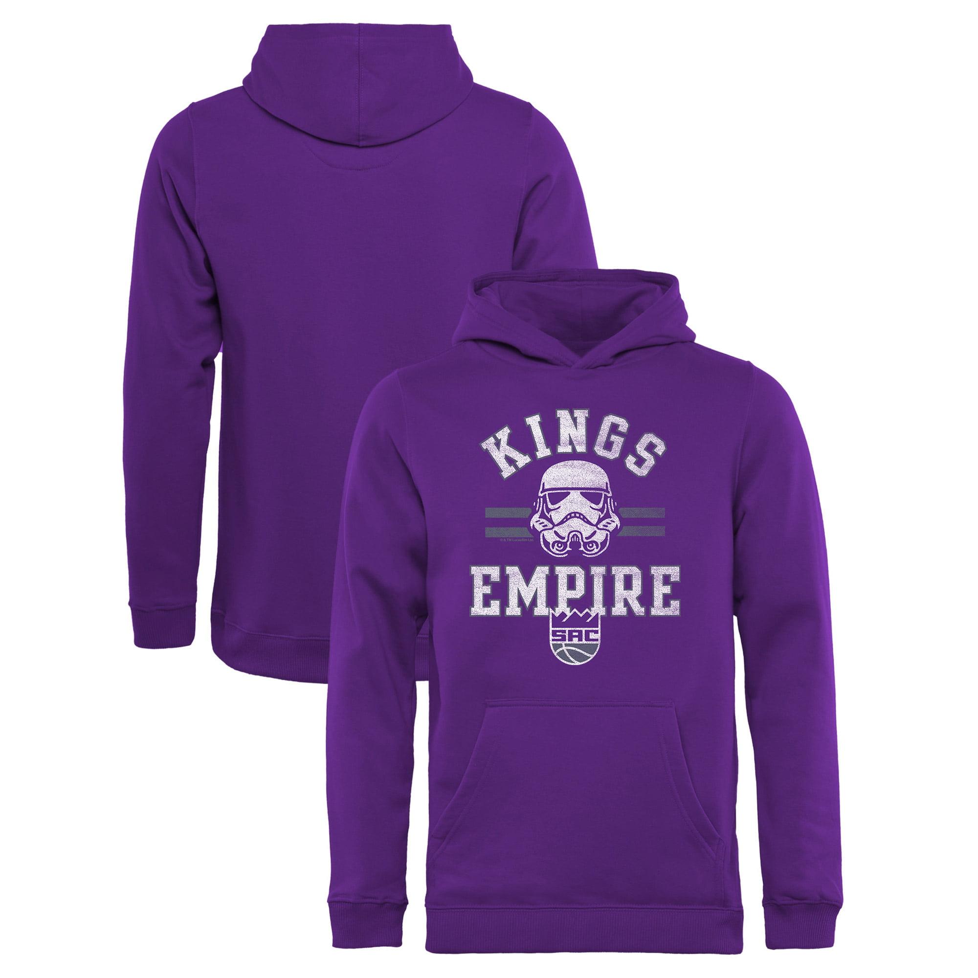 Sacramento Kings Fanatics Branded Youth Star Wars Empire Pullover Hoodie - Purple