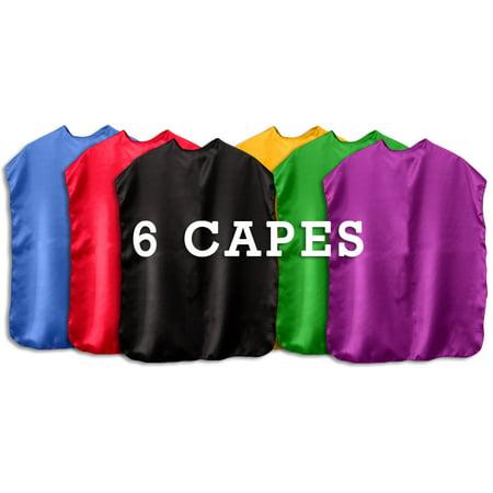 Super Hero Capes Children's capes set of 6