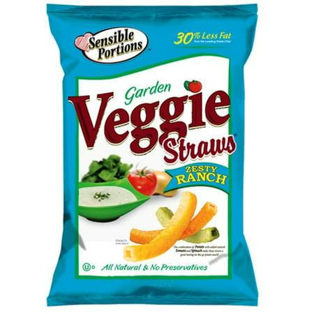 - 24 PACKS : Sensible Portions Veggie Straws, Ranch, 1 Ounce
