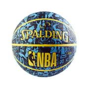 "Spalding® NBA Graffiti 27.5"" Basketball - Neon Blue/Black"
