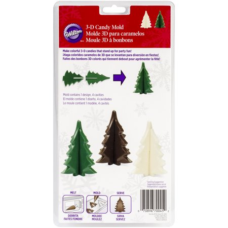 Wilton Industries 2115-0045 Christmas Tree 3-D Candy Mold Multi-Colored