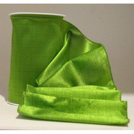 Shiny Alligator (Ribbon Bazaar Wired Shiny Taffeta Plain 1-1/2 inch Avocado 10 yards Ribbon )