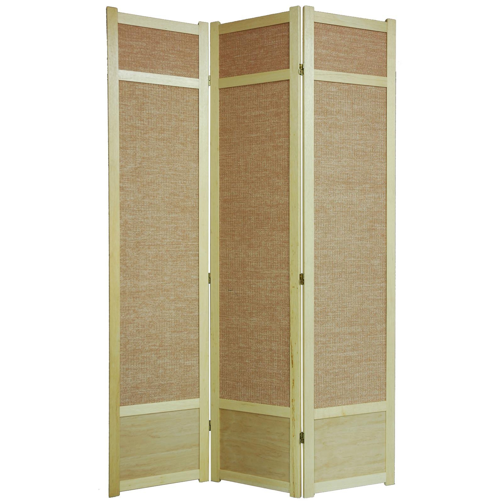 Oriental Furniture Jute Fiber Shoji Screen Room Divider-8...