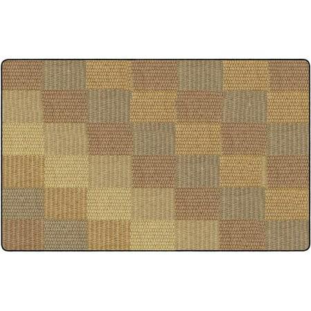 Flagship Carpets FA1010-44FS Tapis de salle de bain confortable, blocs, 7 x 6 pi x 12 po, Naturel - Rectangle - image 1 de 1
