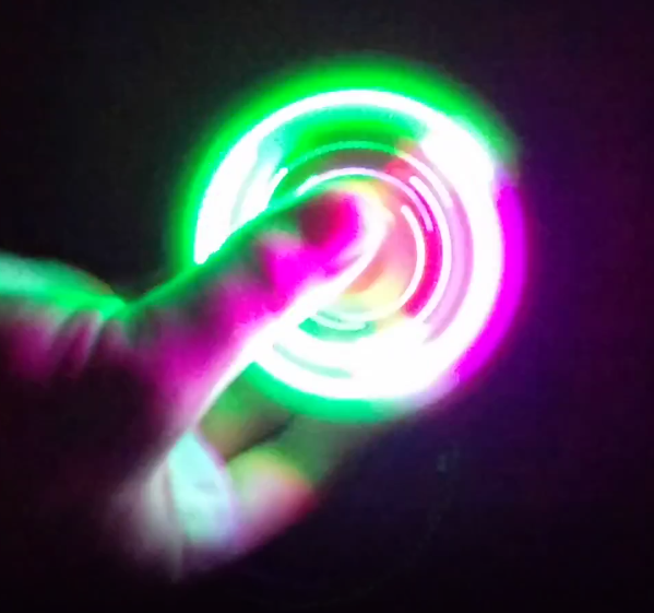 Glow in the Dark Fidget Spinner Good Quality USA Seller PINK Fast Free Shipping