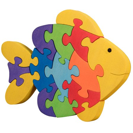 Wooden Jigsaw Puzzle For Toddlers Kids Childrens Baby 2 3 4 5 Years Old Preschool Educational Handmade Toys Fish