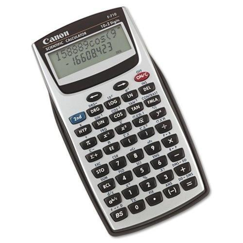 """Canon F710 Handheld Scientific Calculator - 139 Functions - 2 Line[s] - 12 Character[s] - Lcd - Solar, Battery Powered - 3.2"""" X 5.9"""" X 0.8"""" - Gray"""