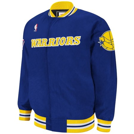 Hardwood Classics Vintage Tee - Golden State Warriors NBA Mitchell & Ness Blue Authentic Hardwood Classics 1996-97 Vintage Warm Up Jacket For Men