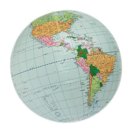 Map Of Canada On Globe.Hubbard Scientific 617 24 Inch World Globe Inflatable Walmart Canada