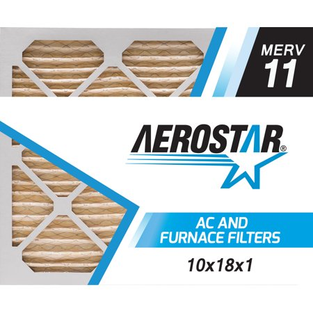 Aerostar 10X18x1 Merv  11  Pleated Air Filter  10X18x1  Box Of 6  Made In The Usa
