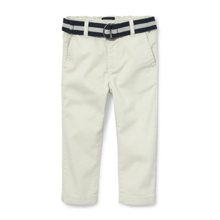 - The Children's Place Belted Flat Front Skinny Chino Pant (Baby Boys & Toddler Boys)