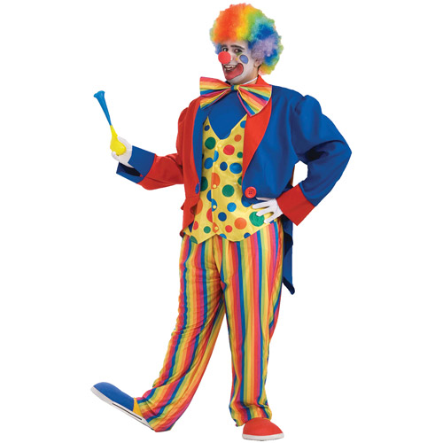 Clown Adult Halloween Costume - One Size