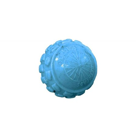 cycle dog retread high roller ball dog toy blue squeaking play head large ()