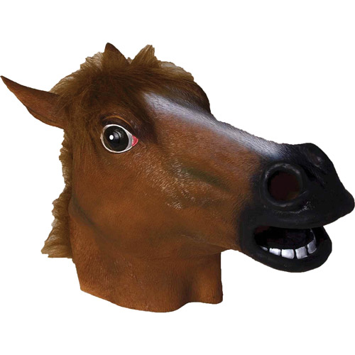 Horse Latex Adult Halloween Mask Accessory