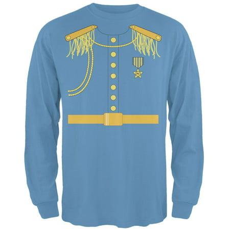 Prince Charming Costume Carolina Blue Adult Long Sleeve T-Shirt - Adult Prince Charming