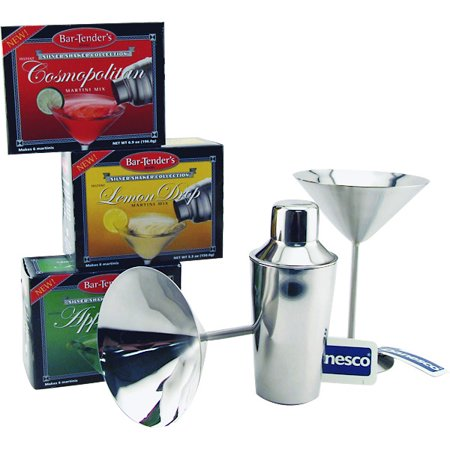 Bar-Tenders Cocktail Mixers Starter Kit with Shaker & Glasses - 5 Pieces Bar-Tenders Cocktail Mixers Starter Kit with Shaker & Glasses - 5 Pieces