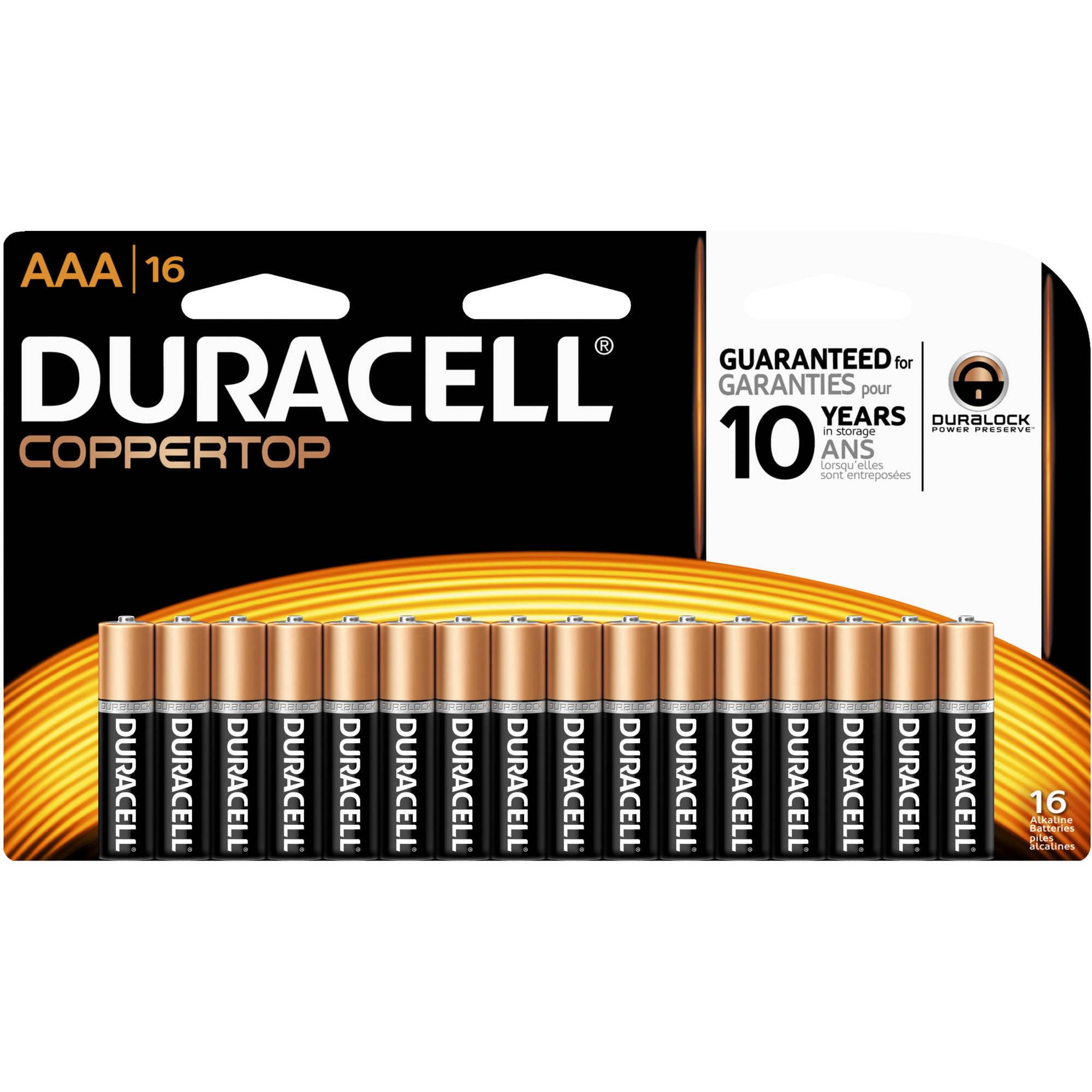 Duracell CopperTop AAA Alkaline Batteries, 16ct