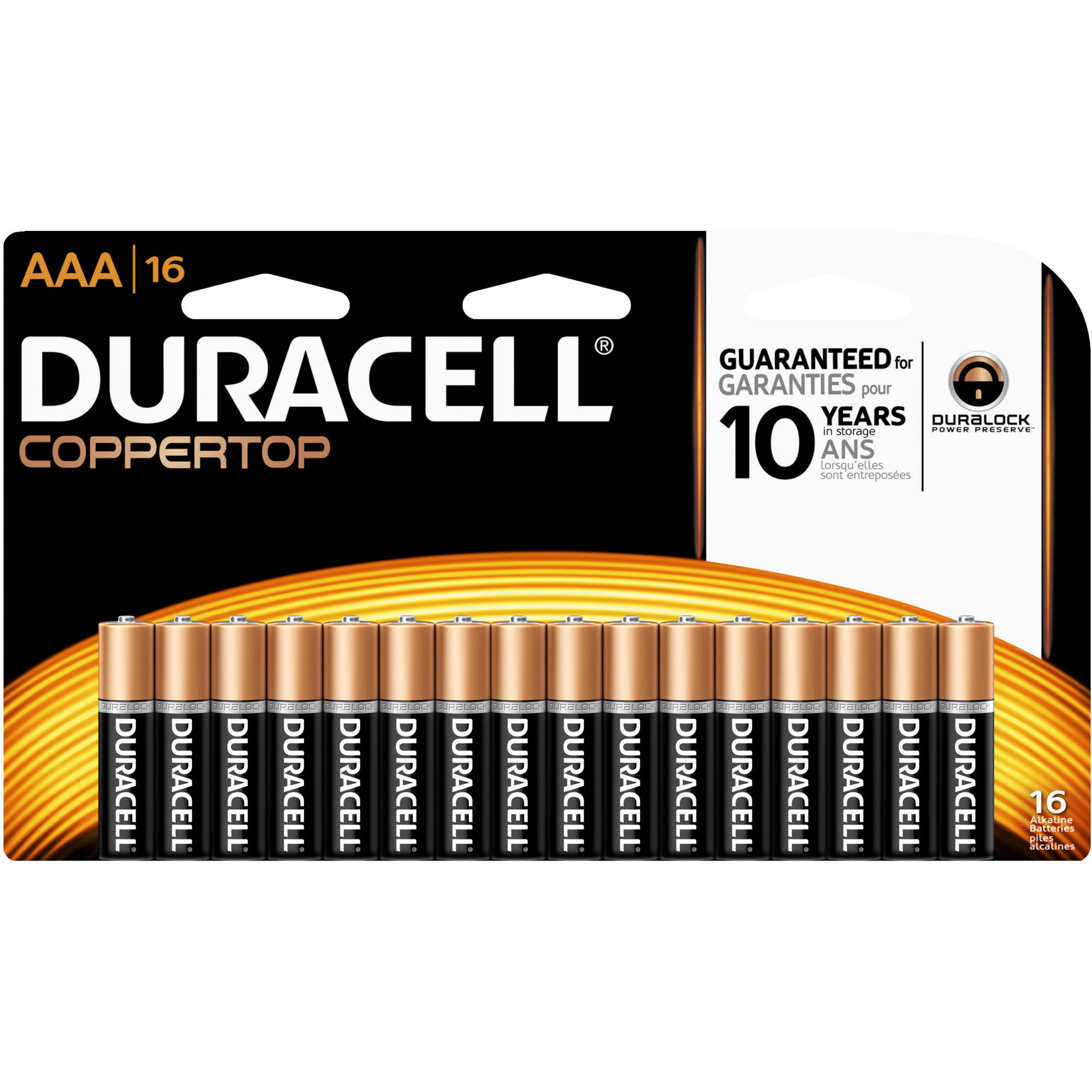 Duracell CopperTop AAA Alkaline Batteries, 16ct