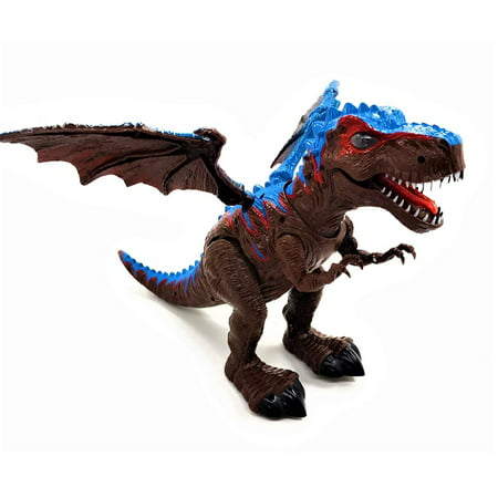 Remote Control Walking Dinosaur Toy Figure T Rex Battery Operated T Rex Walking Dinosaur w/ Walking Movement , Light Up Eyes , Realistic Dinosaur Sounds & Remote Control , Kid Pet Toy Animal - Blow Up T Rex