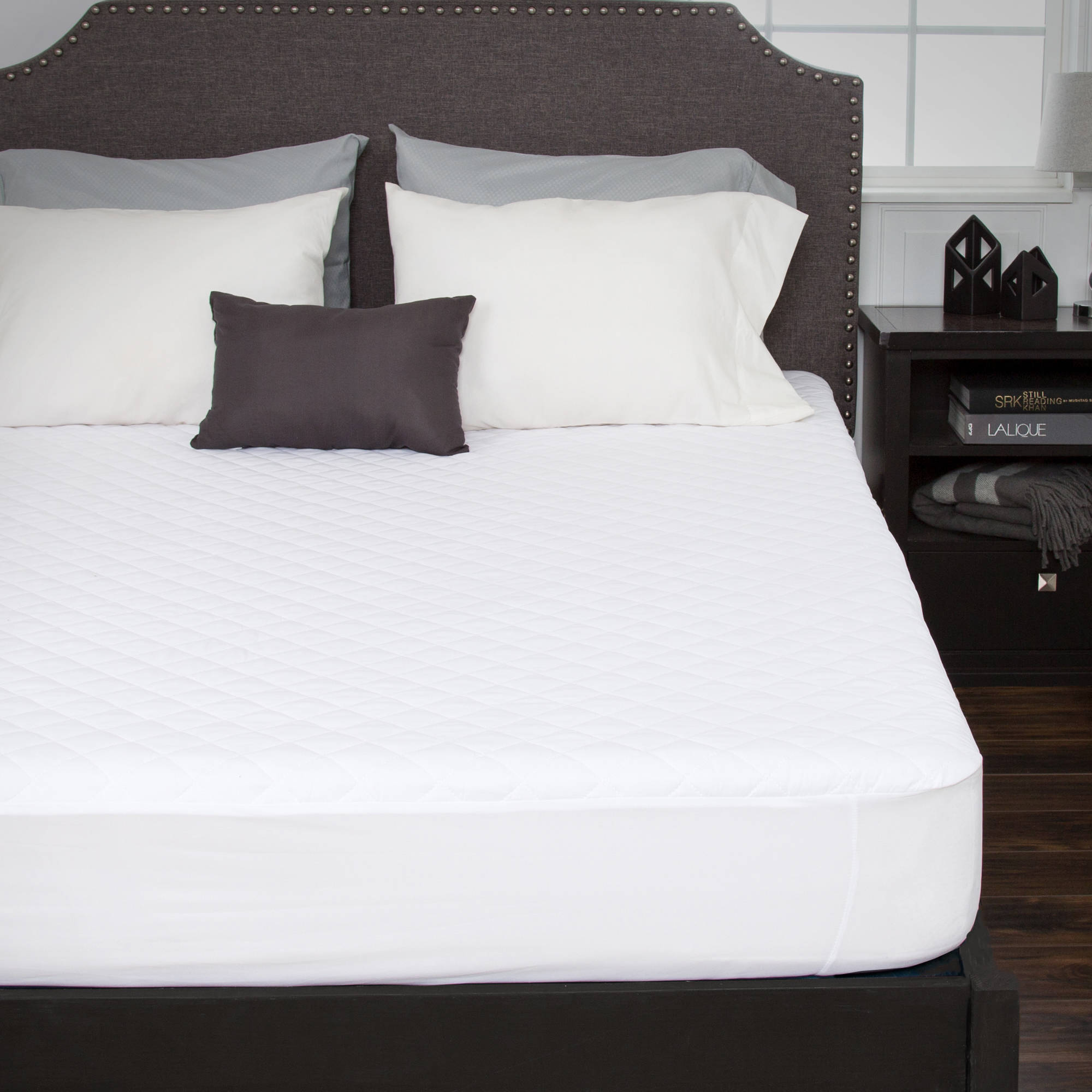 Somerset Home Waterproof Mattress Pad with Expandable Fitted Skirt