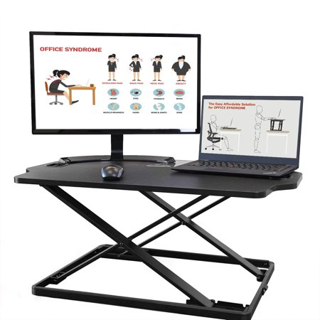 "AdvnUp 31""X21"" Standing Desk Converter Height Adjustable Sit-Stand Up Workstation"