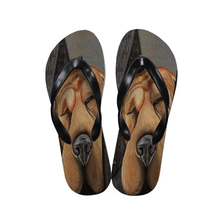 Chinese Thong Sandals - KuzmarK Flip Flop Thong Sandals Unisex - Chinese Shar-Pei Dog as My Co-Pilot Dog Art by Denise Every