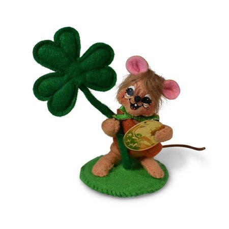 Annalee Dolls 2019 St. Patrick's Day 3in Shamrock Mouse Plush New with Tags